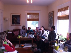 8 Limbs Admin Staff in the Palmer Living Room