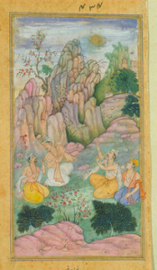 Sage Vyasa with disciples